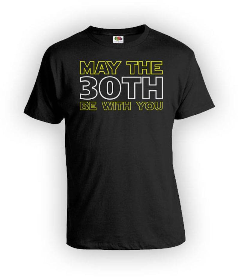 30th Birthday Gift Ideas For Him Movie T Shirt Custom Age Bday Present