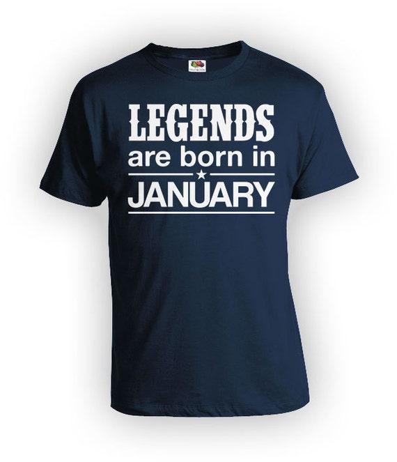 Funny Birthday T Shirt January Month TShirt Custom