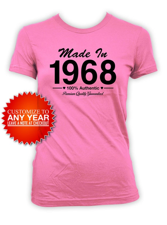 50th Birthday T Shirt Bday Present For Her Custom