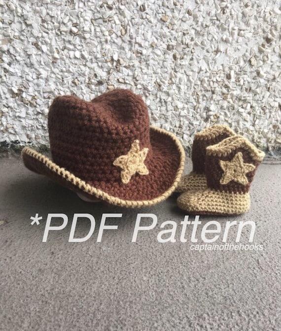 Crochet Pattern Baby Cowboy Outfit Cowboy Pattern Cowboy Etsy