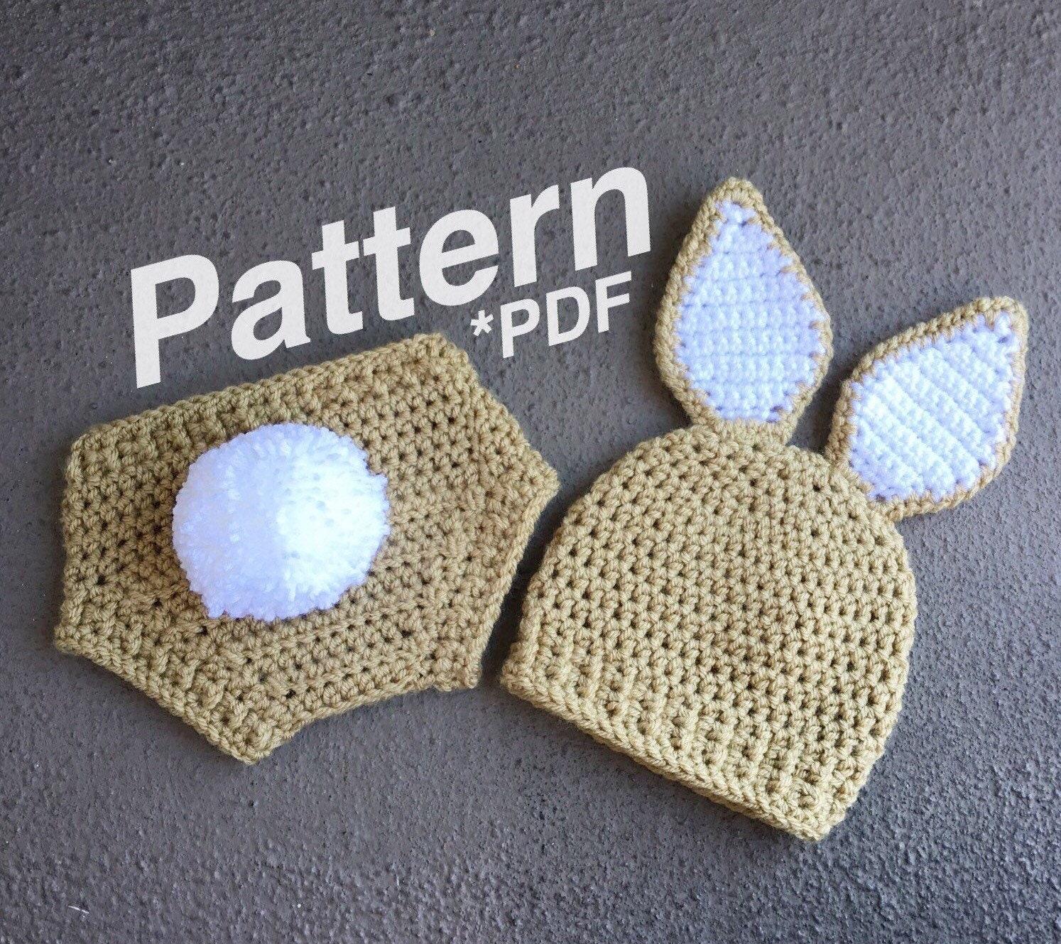 Crochet Pattern Baby Bunny Outfit Bunny Pattern Bunny Hat Etsy