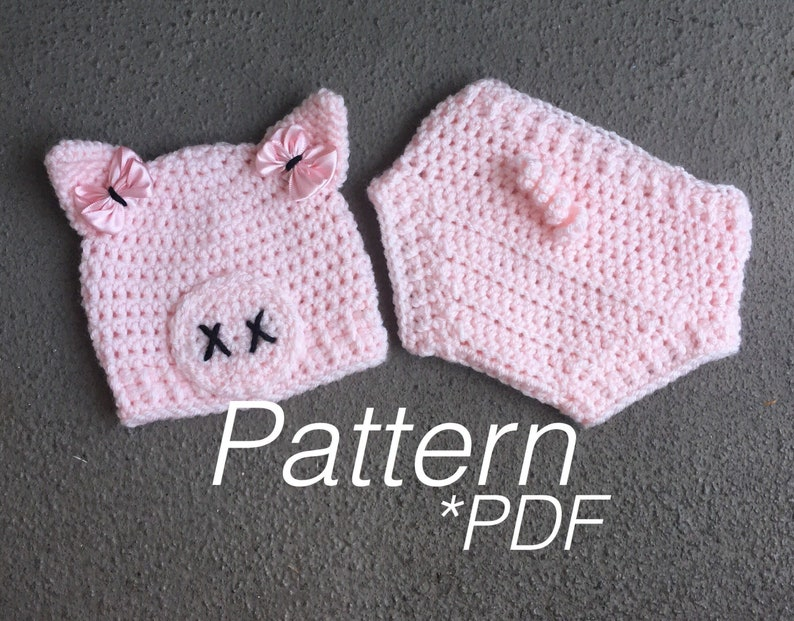 0441e25b0d1 CROCHET PATTERN Baby Pig Outfit Pig Pattern Pig Costume