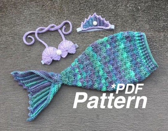 Mermaid Crochet Pattern Tail Crochet Pattern Mermaid Tail Etsy