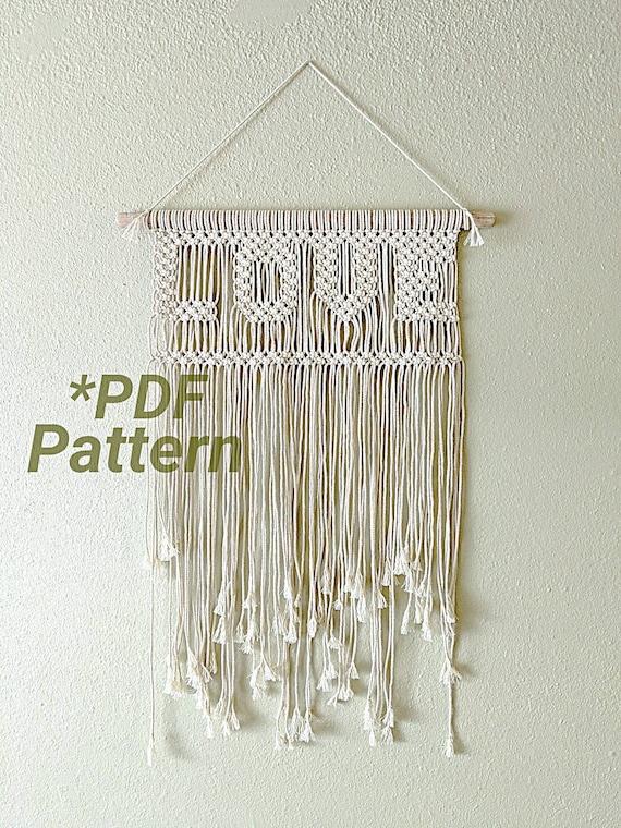 Love Macrame Macrame DIY Macrame Tutorial Macrame Pattern Macrame Wall Hanging PDF Pattern Modern Macrame Wall Hanging Pattern