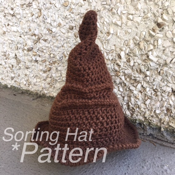 CROCHET PATTERN Sorting Hat Harry Potter Potter Hat Hat  681bee4cafd