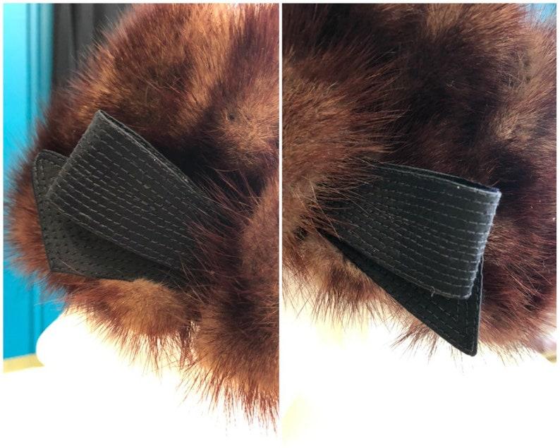 1960s Mitzi Lorenz Mink Hat 21 12 Circumference