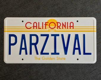 PARZIVAL Ready Player One DeLorean Replica Prop License Plate (300mm x 150mm)