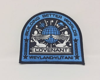 Alien Covenant Weyland Yutani Building Better Worlds Embroidered Iron On Patch (100mm x 90mm)
