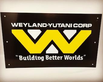 Aliens Weyland Yutani Corp Building Better Worlds Metal Sign 430mm x 300mm