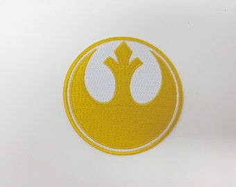 Star Wars Rebel Alliance Gold Squadron Embroidered Iron on Patch (75mm x 75mm)