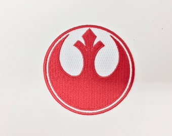 Star Wars Rebel Alliance Red Squadron Embroidered Iron on Patch (75mm x 75mm)