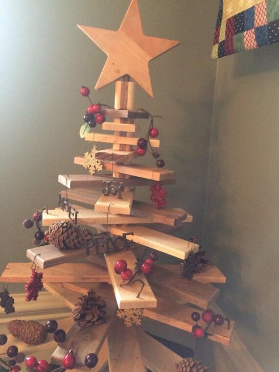 Wooden Christmas Tree.Wooden Christmas Tree With Moveable Rotating Slats