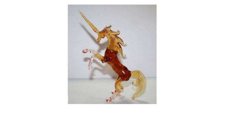Art Blown Glass Murano Figurine Glass  Unicorn Figurine