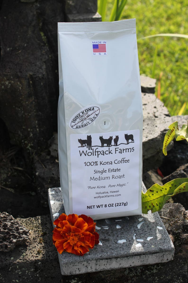 100% Kona Coffee Single Estate Award Winning Medium Roast image 0