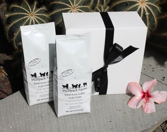 100% Kona Coffee Gift Box for Mother's Day, Father's Day, Birthdays, All Occasions, free shipping