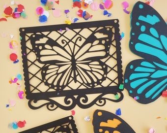Butterfly Mariposa papel picado