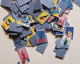 mini loteria card confetti