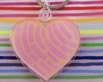Concha heart Keychain