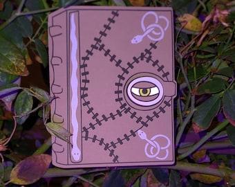 hocus pocus spell book card