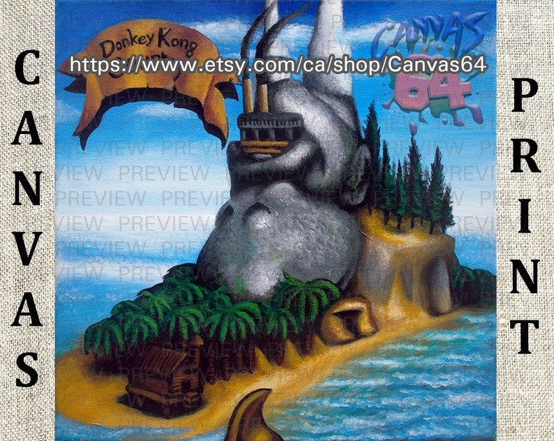 Donkey Kong Country CANVAS PRINT aka Donkey Kong   Etsy on