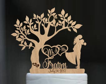 Mr and mrs name Custom cake topper Wood cake topper Last name wedding cake topper Personalized cake topper Gold Unique wedding cake topper