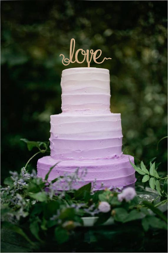 Wedding Cake Topper Love Rustic Cake Topper Wedding Decor Etsy