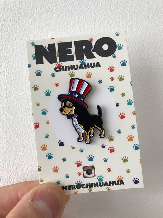 Chihuahua Dog Puppy Soft Enamel Lapel Pin Hat British Christmas Stocking Badge