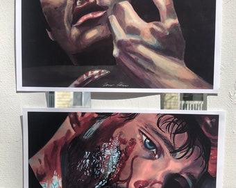 NBC Hannibal Lecter and Will Graham - PRINTS