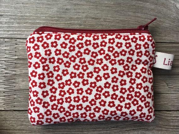 Sacs à main, sacs, fleurs rouge sur crème