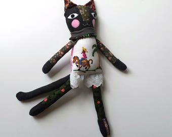 Handmade Cat Doll, Cat Rag Doll named Kali