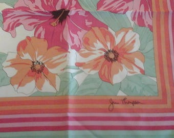 Beautiful,  designer Jim Thompson tropical silk scarf.