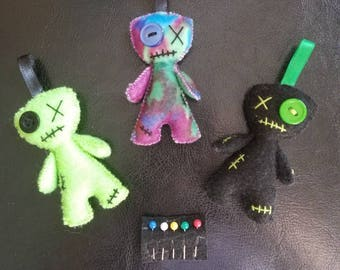 Mini Voodoo Doll with Pins