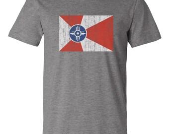 Wichita Flag Vintage Unisex Tshirt