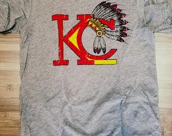 Kansas City Chiefs Vintage Headress Unisex Tshirt