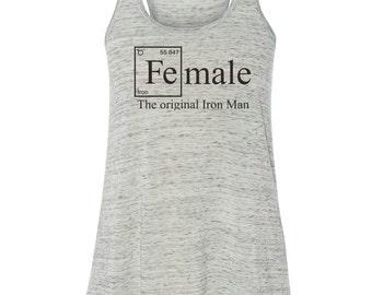 FEMALE-- The original Iron Man-- Heather Grey