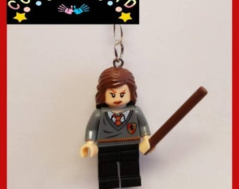 Harry Potter Hermione Grainger Inspired Mini Fig Toy Keyring