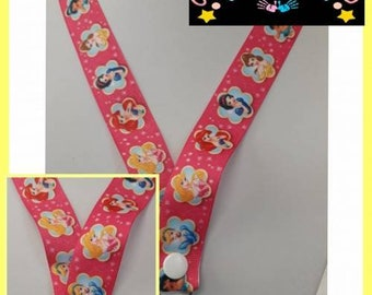 Disney Princess Inspired Ribbon Lanyard Complete With Safety Release Clip
