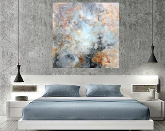 Abstract painting, soft colors painting, Acrylic painting, Modern art, paintings on canvas, Wall art, home decoration