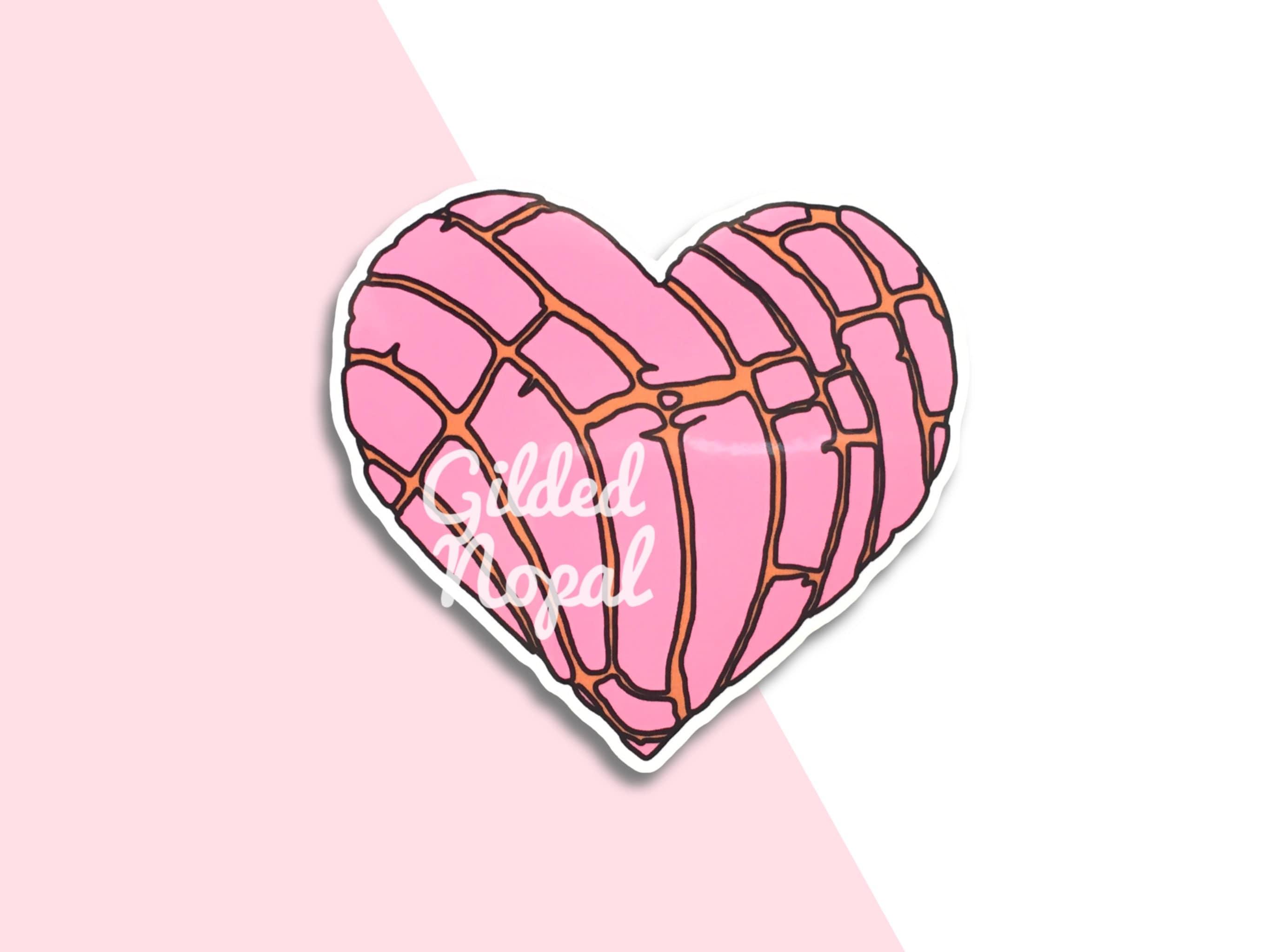 Concha Heart Sticker Pan Dulce Pink Concha Etsy