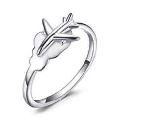 Sterling Silver Plane ring Airplane Ring love Airplane Earrings travel gift jewellery air hostess gift Good luck gift for travellers