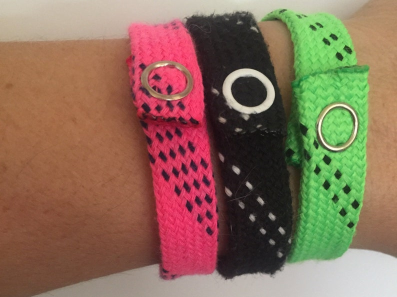 Hockey lace bracelets image 0