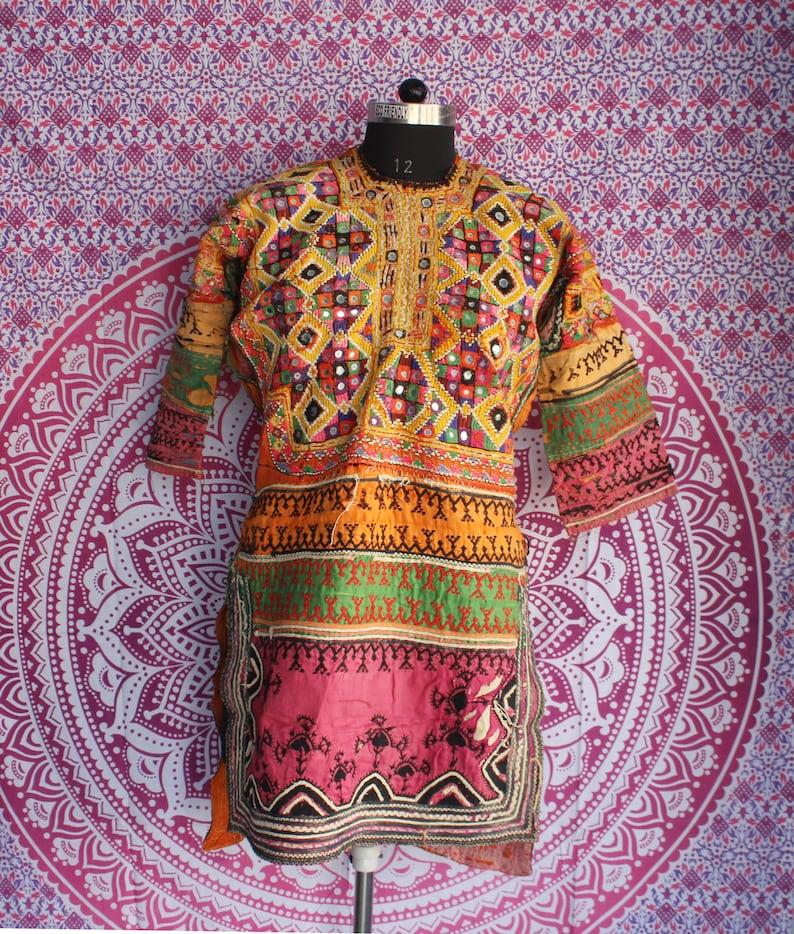 banjara dress,embroidered boho/'s gypsy antique dress,shawl dress,hand embroidered banjara top handmade winter dress vintage woollen dress