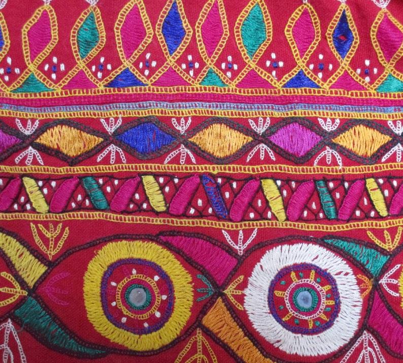 Vintage Banjara Skirt Hand Embroidered Cotton Multi Color Skirt Tribal Gypsy Banjara Boho Bohemian Women Clothing Indian Belly Dance Skirt