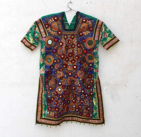 Vintage Banjara Dress Hand Embroidered Tribal Gyps