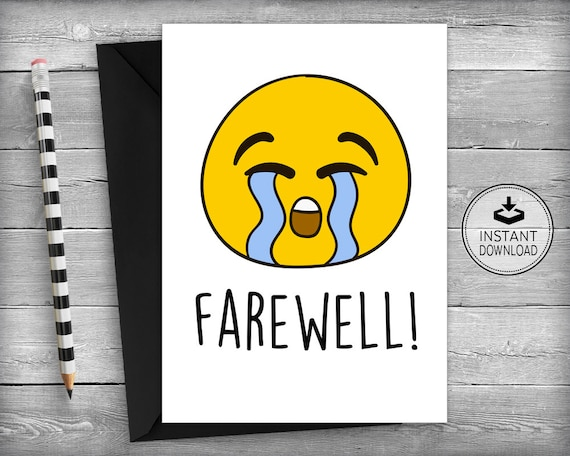 farewell cards new job cards goodbye cards going away etsy