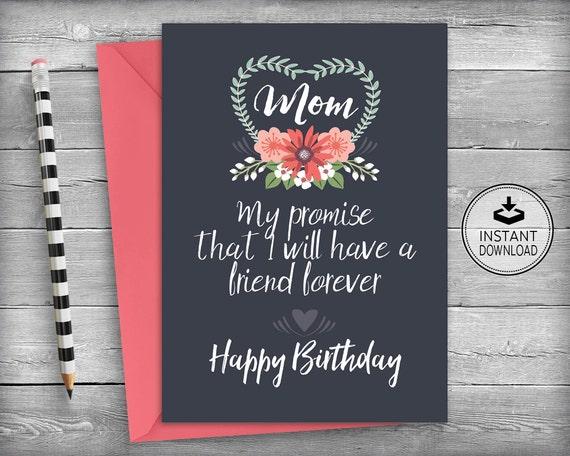 Mom Birthday Card Mother Birthday Card Birthday Card For Etsy