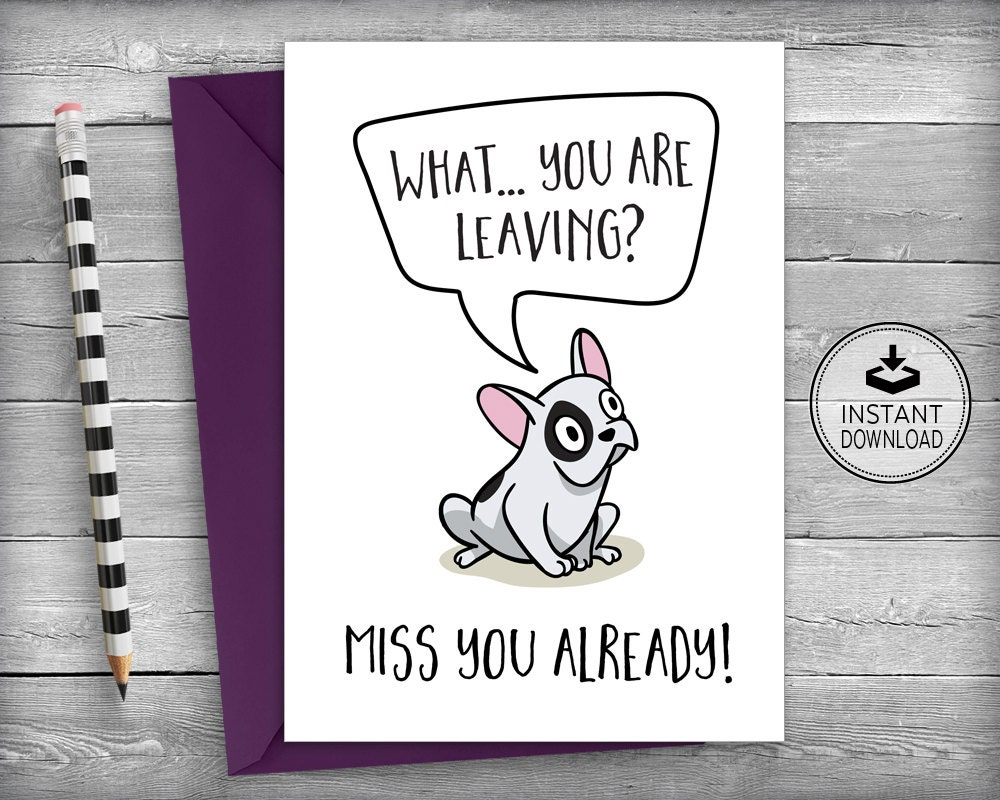farewell card new job cards goodbye cards going away  etsy