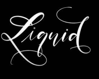 Liquid brush for Procreate lettering / digital lettering brush / half opaque Procreate brush