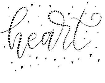 Hearts brush for Procreate / Digital brush for Procreate lettering