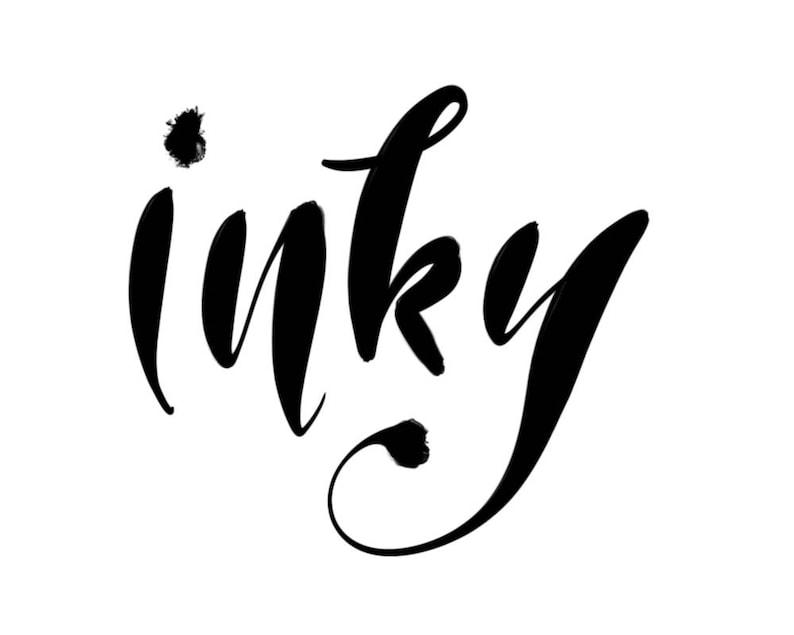 Procreate brush / Inky brush / Digital handlettering ink brush image 0